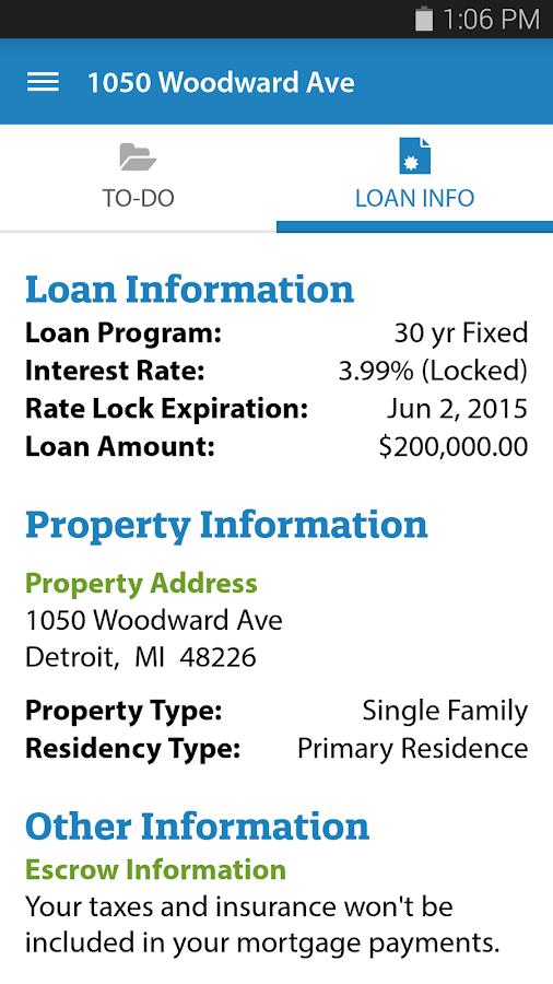 My Quicken Loans Mobile - screenshot