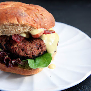 Maple Bacon Burgers With Sweet Dijon Sauce