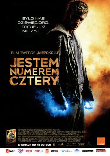 Przód ulotki filmu 'Jestem Numerem Cztery'