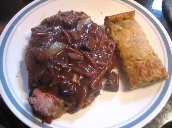 Prime Rib With Cabernet-vegetable Au Jus & Yorkshire Pudding With Chives