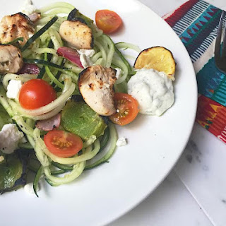 Greek Kabob and Cucumber Salad
