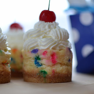 Mini Birthday Cheesecakes