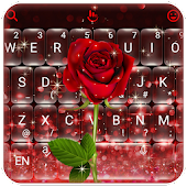 Red Rose Flower Keyboard Theme Android APK Download Free By Love Cute Keyboard