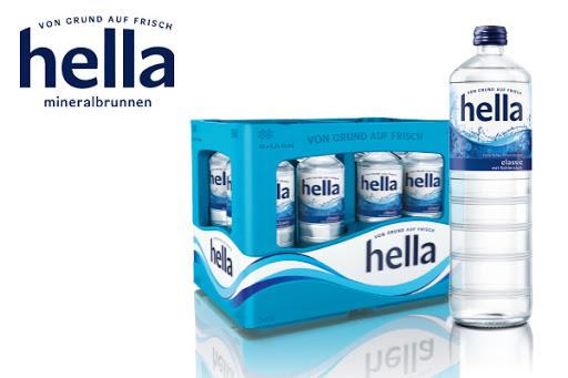 Bild für Cashback-Angebot: hella 12er-Glaskiste 0,7L classic, medium, naturell - Hella
