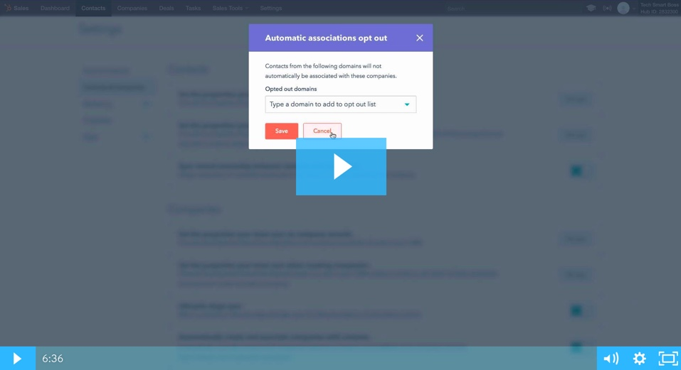 Hubspot CRM - Settings Overview