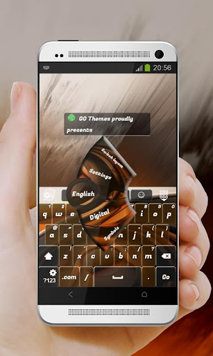 Brown Secret GO Keyboard