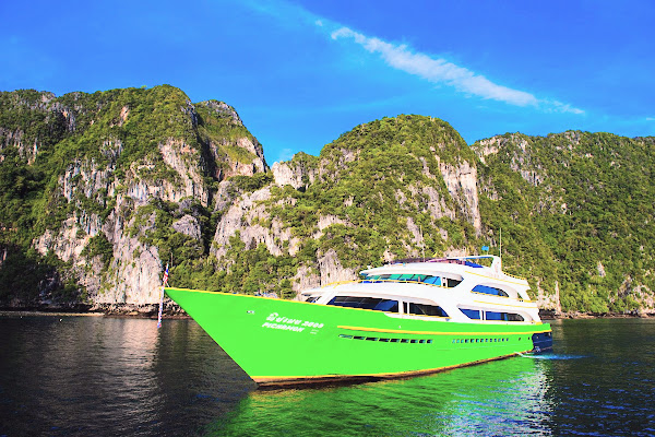 Travel from Koh Lanta to Koh Yao Noi via Phi Phi Island by ferry and speed boat