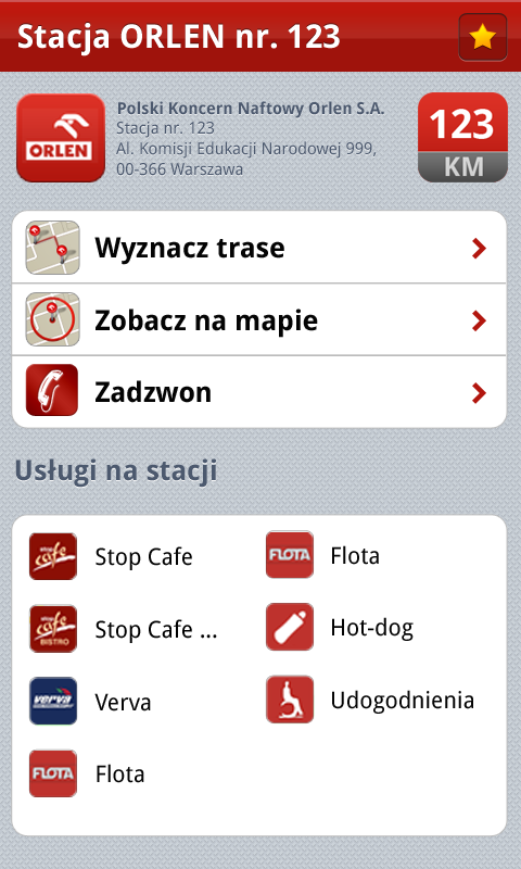 ORLEN Mobile 2.0- screenshot
