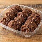 Chocolate Sesame Oat Cookies