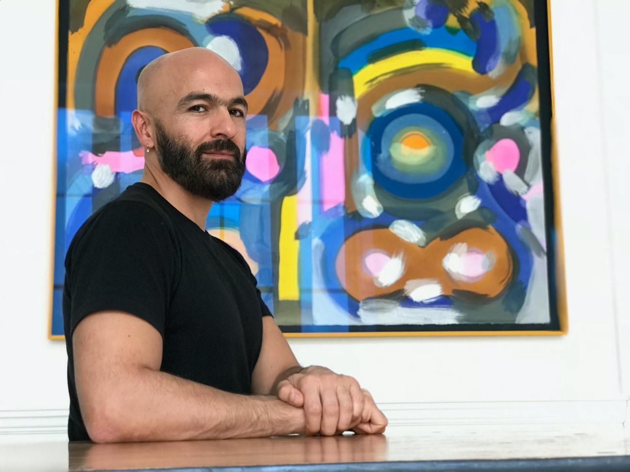 Hernán Quipildor, artista participante en Erasmus para Jóvenes Emprendedores