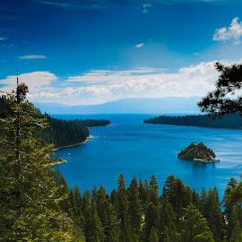Emerald Bay , South Lake Tahoe by Venkatauday Bommisetty - Landscapes Travel ( south lake tahoe, emerald bay, travel photography )