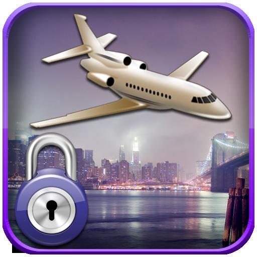娱乐の飛行機画面のロック LOGO-記事Game