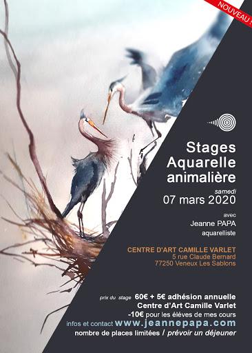 stages aquarelle animaliere 7 mars 2020 JEANNE PAPA seine et marne_fontainebleau_moret_MLO_77