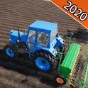 Tractor Trolley Farming Simulator 3D 2020 icon
