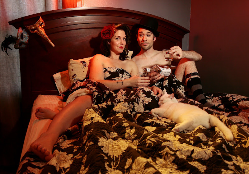 Photo: Annie Cherry and Damian Blake, burlesque performers, Tuesday, Nov. 2, 2010.  JILL TOYOSHIBA/The Kansas City Star 11022010
