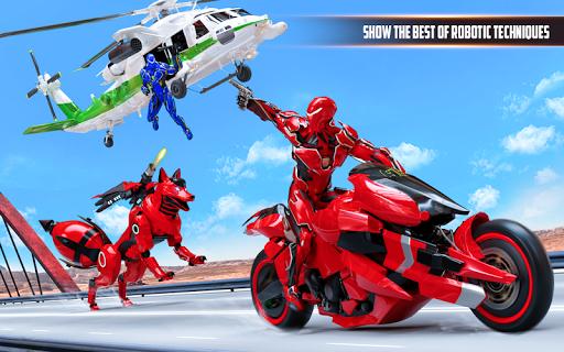 Wild Fox Transform Bike Robot Shooting: Robot Game 12 screenshots 7