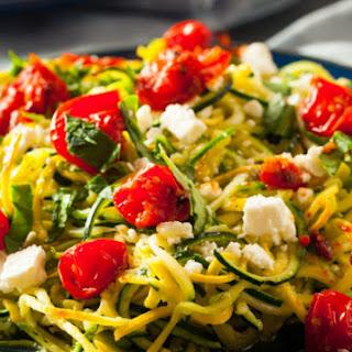 Chicken and Zucchini Noodle Caprese.