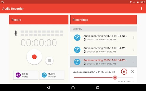 Audio Recorder- screenshot thumbnail