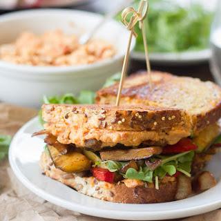 Vegan Balsamic Veggie & Sun-Dried Tomato Hummus Panini Recipe