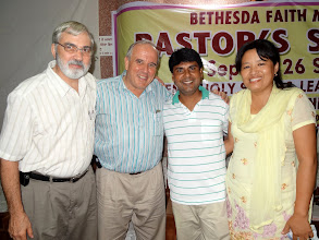 Photo: Milo Zehr & Myself with Pastor Pradeep & his wife Sashi