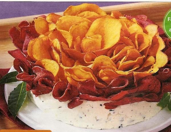 Cheddar Cheeseball Blossom Recipe
