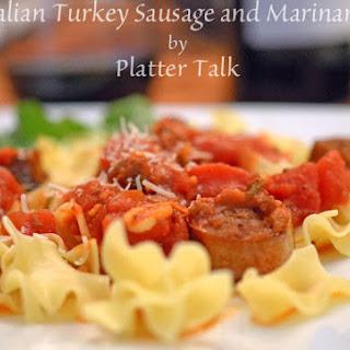 Italian Turkey Sausage and Marinara