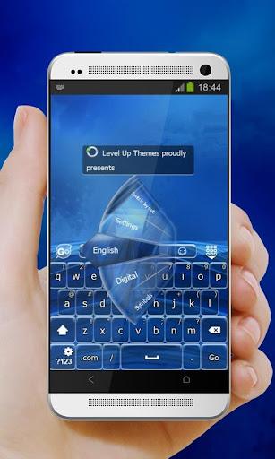 Blue elastic net GO Keyboard