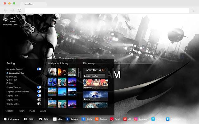 Arkham Knight New Tab Page HD Games Theme