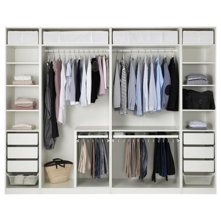 Garderoba złożona z modułów