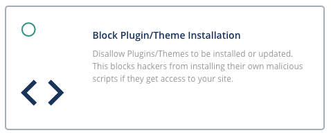 blocking plugin or theme installation