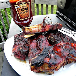 Grilled BBQ Country Pork Ribs.