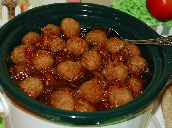 The meatballs were easy, too. I combined one jar of apricot preserves, one jar...