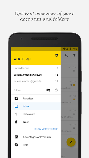WEB.DE screenshot 2