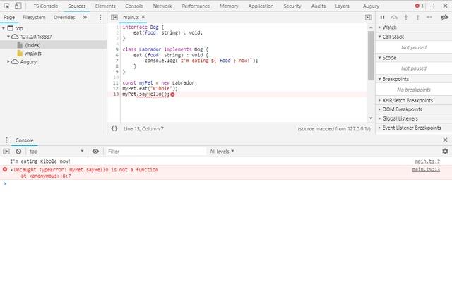 TypeScript-Console