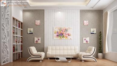 Photo: Phòng khách - hướng chính diện