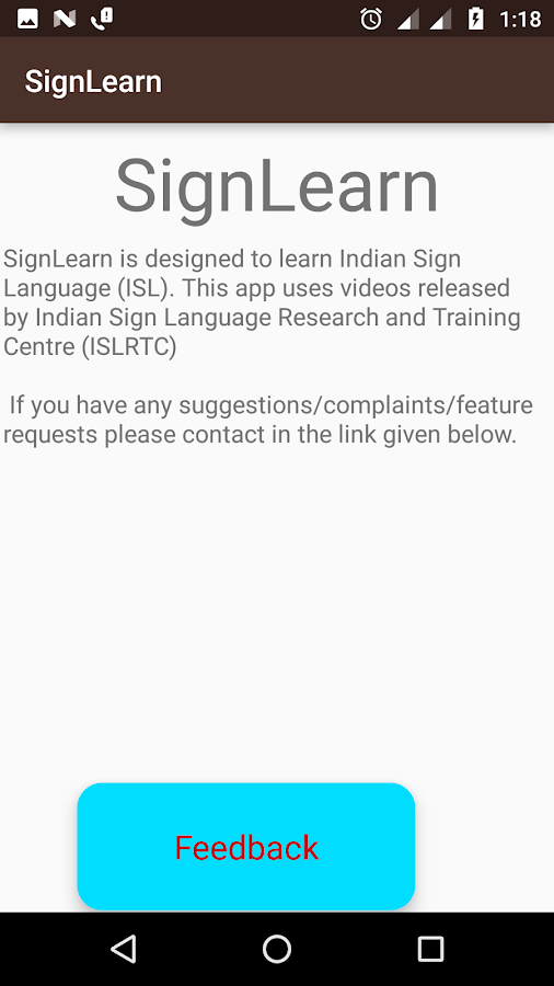 SignLearn - ISL learning app- screenshot