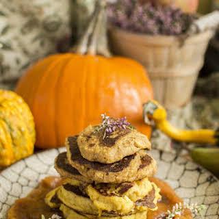 Pumpkin Millet Pancakes With Pumpkin Plum Mousse.
