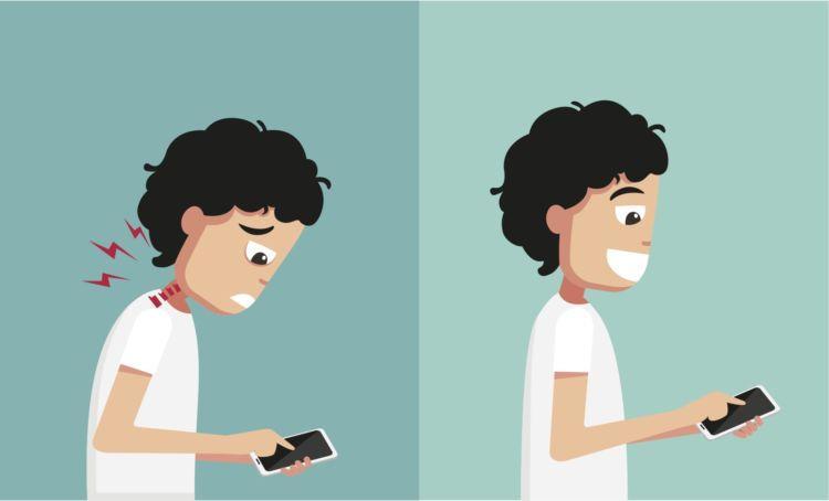 celular e pescoço