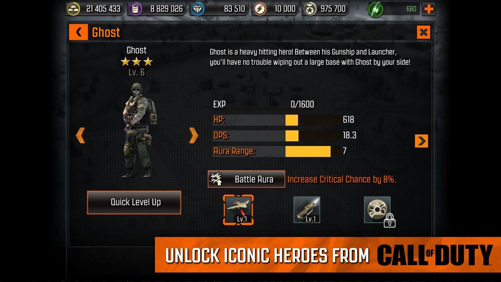 Screenshots of Call of Duty®: Heroes for iPhone