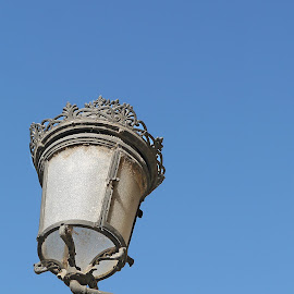 Lamp in Blue Sky II by Joatan Berbel - Artistic Objects Other Objects ( spain, granada, andalucia, lamp post, culture, artistic object, street photography )