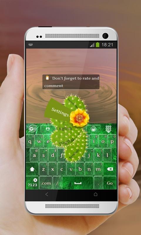 Cacti GO Keyboard - screenshot