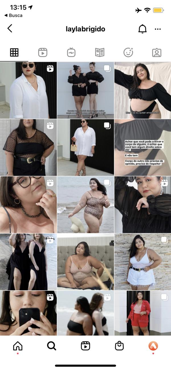 print do feed do instagram da Layla Brigido