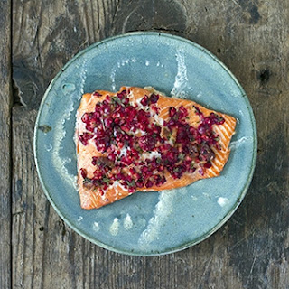 Salmon with Citrus-Cranberry Relish.
