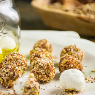 Homemade Yogurt & Dukkah Encrusted Labneh Balls