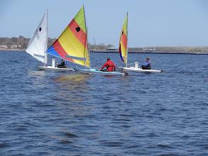 Photo: downwind maneuvering, 1, John, Logan, Bob