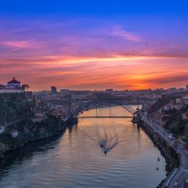River Duero  by Katarzyna Najderek - City,  Street & Park  Night
