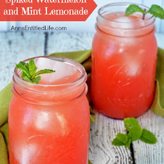 Spiked Watermelon and Mint Lemonade