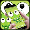Green Cartoon Frog Big Eyes Theme icon