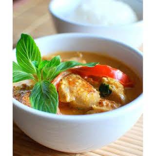 Thai Red Curry Chicken.