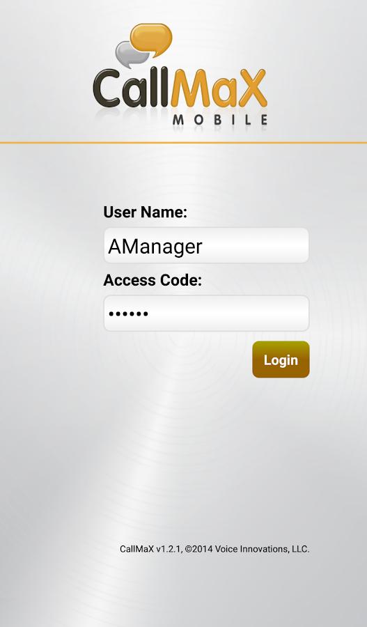 CallMaX - screenshot